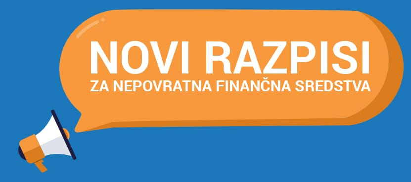 Novi razpisi za nepovratna finančna sredstva za naložbe v stavbah in za vozila