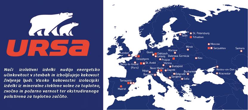 Ursa uvrščena med vodilne proizvajalce izolacijskega materiala za gradbeništvo v evropi