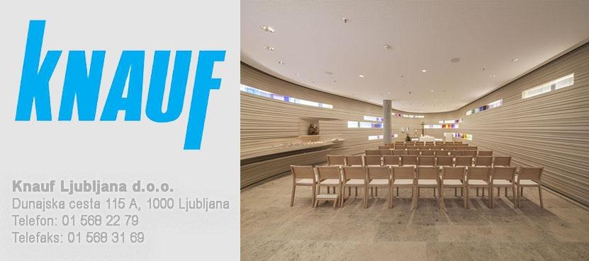 Fleksibilno načrtovanje, naravni materiali, preizkušene in certificirane sitemske rešitve.  Vse to in še več vam nudi KNAUF Ljubljana d.o.o.